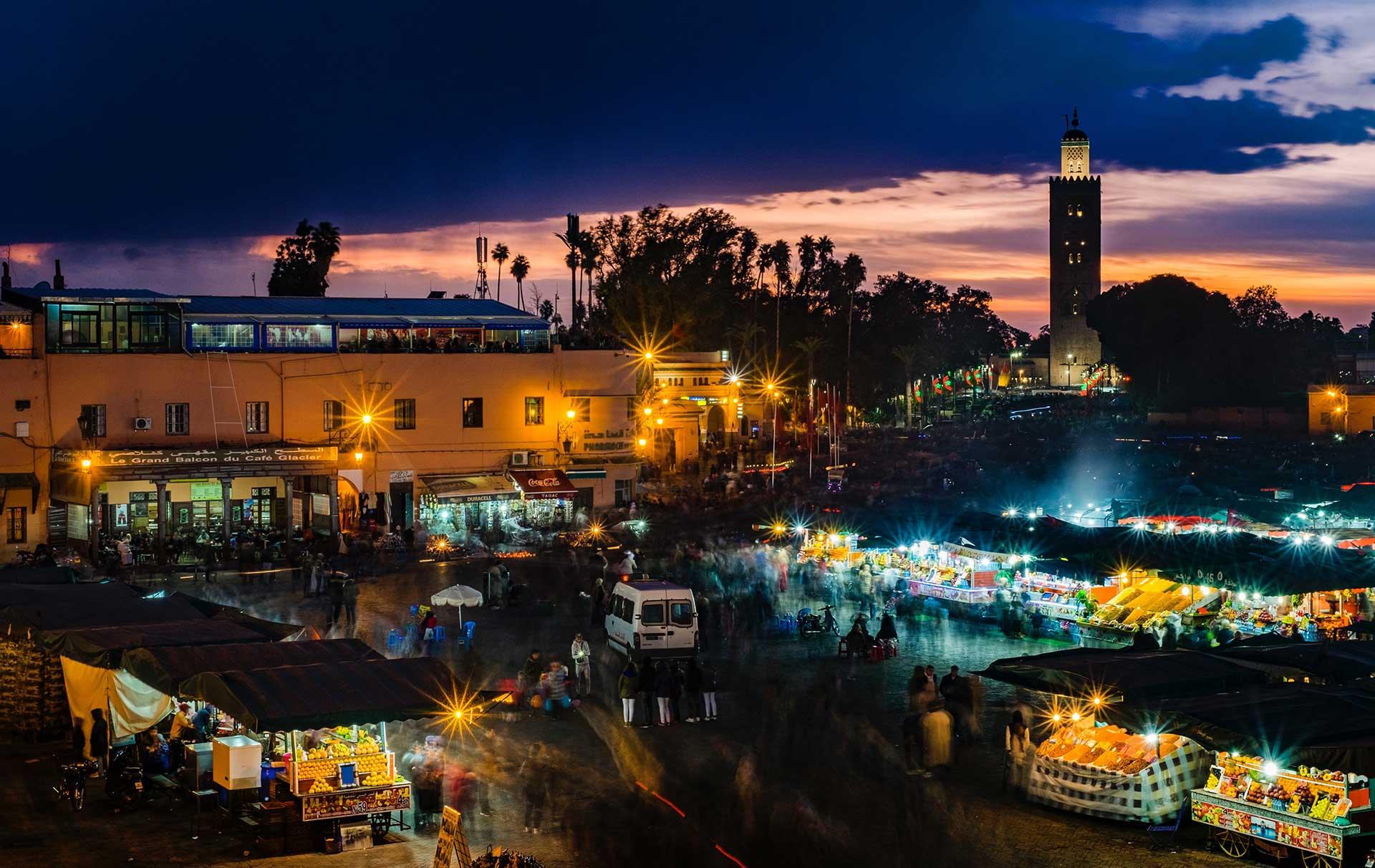 La plaza Yemaa El Fná de Marrakech